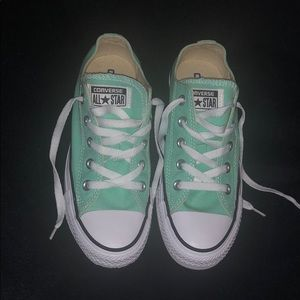 Brand new turquoise converse shoes
